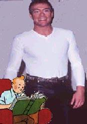 imagen de Van Damme,en posible piel de Tintin